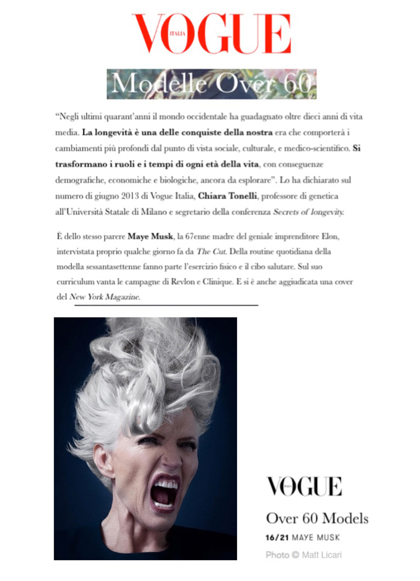 Maye Musk Vogue IT